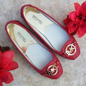 Michael Michael Kors Womens Red Flats Size 7.5